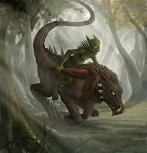 Goblin Beast Rider - Armor & Ash